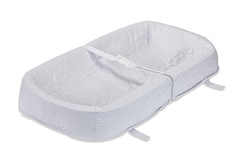 LA Baby Waterproof 4 Sided Cocoon Style Changing Pad, 30' - Easy to Clean Quilted Cover W Non-Skid Bottom, Safety Strap, Fits All Standard Changing Tables/Dresser Tops for Best Infant Diaper Change