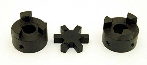1' L095 Flexible 3-Piece L-Jaw Coupling Set & Buna-N NBR Rubber Spider