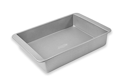 USA Pans 1111RC Bakeware Lasagna and Roasting, Warp Resistant Nonstick Baking Pan, Made in The USA from Aluminized Steel, Deep