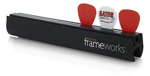 Gator Frameworks Guitar Pick Holder with Microphone Stand Attachment; Holds up to 12 Picks and Slide (GFW-GTR-PICKCLIP)