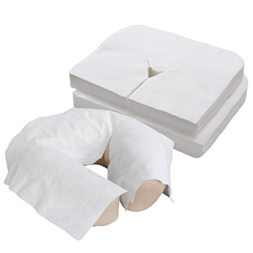 EARTHLITE Disposable Face Cradle Covers  Medical-Grade, Ultra Soft, Luxurious, Non-Sticking Massage Face Covers/Headrest Covers for Massage Tables & Massage Chairs, 100 count