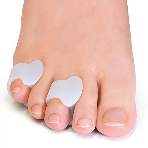 Welnove Gel Toe Separator, Pinky Toe Spacers, Little Toe Cushions for Preventing Rubbing & Relieve Pressure (Pack of 12)