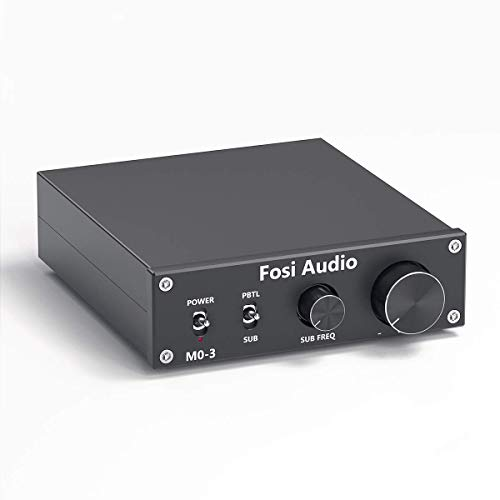 Subwoofer Amplifier 200 Watt Mini Mono Audio Amp Full-Frequency and Sub Bass Switchable Amplifier One Channel Home Theater Single Power Subwoofer Amp Fosi Audio M03 (Renewed)