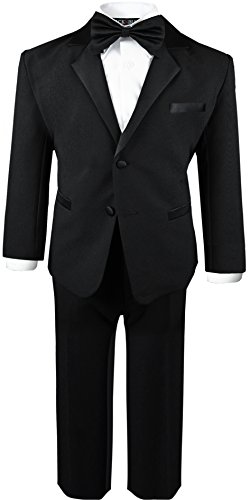 Boys Infant and Toddlers Black Tuxedo Size 2T