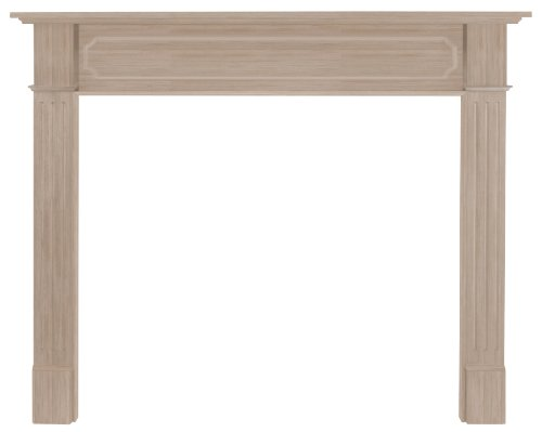 Pearl Mantels 111-50 Alamo 50-Inch Fireplace Mantel, Unfinished