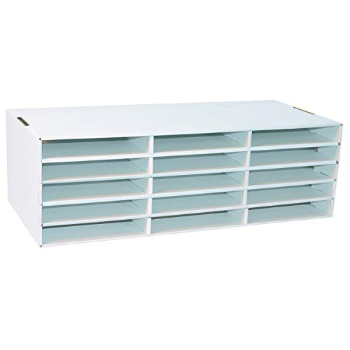 Classroom Keepers 9' x 12' Construction Paper Storage, White,  9-3/8'H x 29-1/4'W x 12-7/8'D, 1 Piece