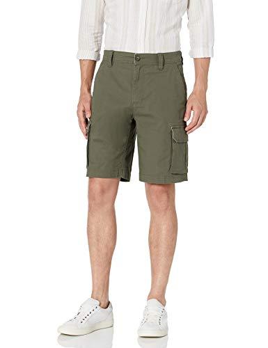 Amazon Essentials Men's Lightweight Ripstop Stretch Cargo Short, Olive, 30