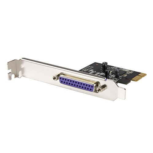 StarTech.com 1 Port PCI Express Dual Profile Parallel Adapter Card - SPP/EPP/ECP - 1x DB25 IEEE 1284 PCIe Parallel Card (PEX1P)