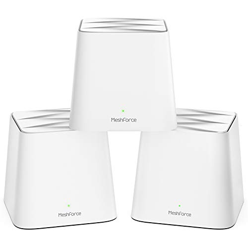 Meshforce M1 Whole Home Mesh WiFi System (3 Pack) – 2020 Upgraded WiFi Performance –Dual Band Wireless Mesh Router- Max WiFi Coverage 6+ Bedrooms (3 Pack)
