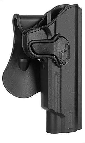 Colt 1911 Holster Fit Colt 1911 5'', OWB Paddle Holster for Kimber 1911/S&W 1911/Taurus 1911/Remington 1911 R1/Sig 1911/Ruger SR1911/GSG 1911, Outside Waistband Holster, 360° Adjustable - Right Handed