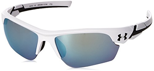 Under Armour Kids' Windup Sunglasses Wrap, White/Tuned Baseball Lens, YOUTH