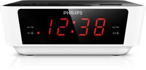 Philips AJ3116W White Digital FM Alarm Clock Radio