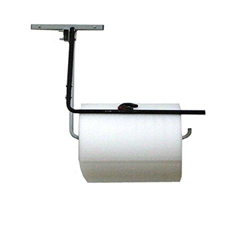 24' Single Arm Wall Mount Bubble Cushioning Wrap & Foam Roll Dispenser w/Slide Cutter