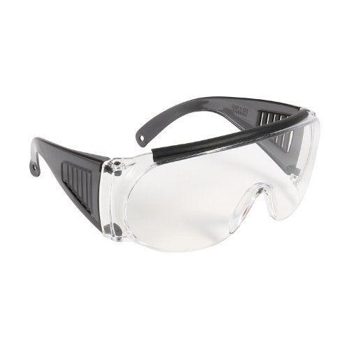 Allen Company Shooting & Safety Fit Over Glasses for Use with Prescription Eyeglasses, Clear Lenses, Wrap Around Frame, ANSI Z87 Impact Resistant, UV Protection