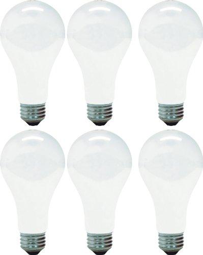 GE Incandescent Light Bulbs, A21 Light Bulbs, 150-Watt, 2680 Lumen, Medium Base, Soft White, 6-Pack, General Purpose White Light Bulbs