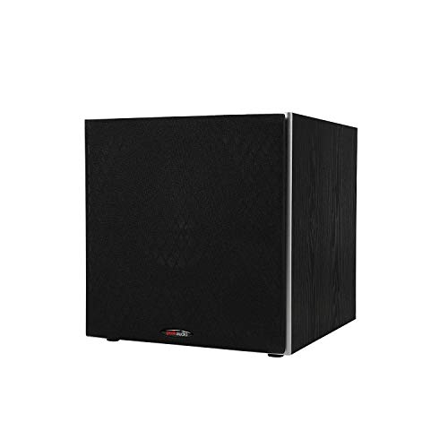 Polk Audio PSW10 10' Powered Subwoofer - Power Port Technology | Up to 100 Watts | Big Bass in Compact Design | Easy Setup with Home Theater Systems