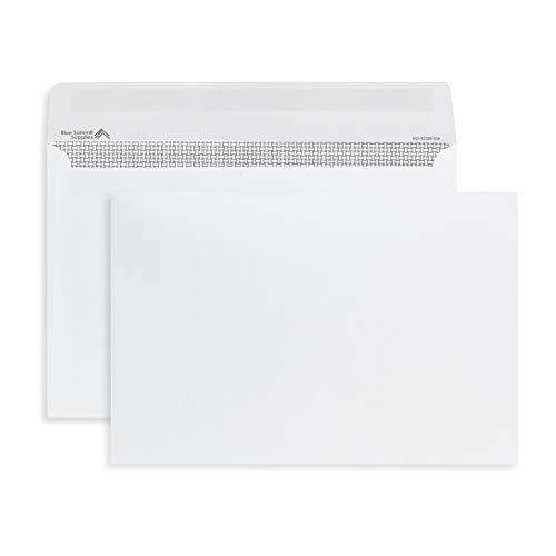 250 6x9 Envelopes, Gummed Seal Security Booklet Envelopes, Designed for Secure Mailing, Securely Holds a Small Booklet, Catalog, Card, or Brochure with Strong Gummed Seal Flap, 250 White Envelopes