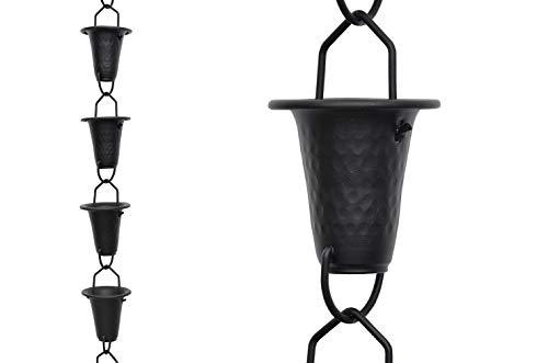 Rain Chain Cone Cup Aluminum 8.5 Ft. RCP-90141
