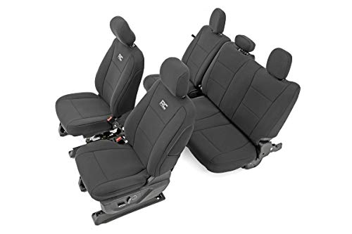 Rough Country Water Resistant Front and Rear Neoprene Seat Covers fits 15-20 F-150   17-20 F-250   - 91018