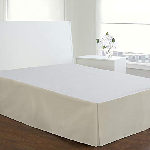 Today's Home Microfiber Classic Tailored Styling Bed Skirt Dust Ruffle, Queen, Ivory