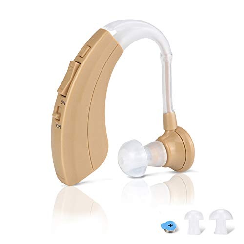 Digital Hearing Amplifier Aid - Personal Sound Device with 2Pcs 500hr Batteries, 4 Channels Noise Reduction, Hearing Aid Cleaning Kit for Adults and Seniors by iAid