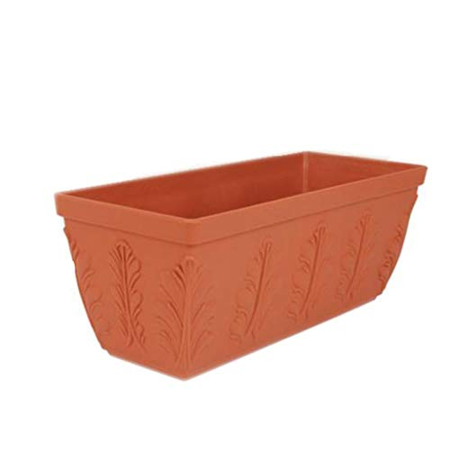 Garden Flower Pots Rectangular Thickened Large Flower Box Household Plastic Planting Box Roof Balcony Vegetable Planting Trough Pots, Planters & Container Accessories (Size : XL)
