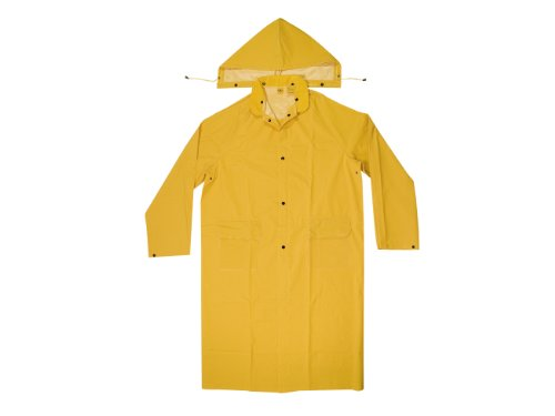 CLC Custom Leathercraft Rain Wear R105L .35 MM PVC Trench Coat, Large, Yellow
