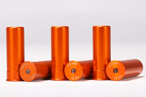 A-ZOOM 12 Gauge SNAP-Cap, Orange, 6PK