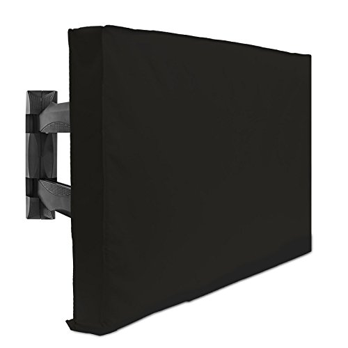 Outdoor TV Cover - 32' Model for 30' - 34' Flat Screens - Slim Fit - Weatherproof Weather Dust Resistant Television Protector - Black