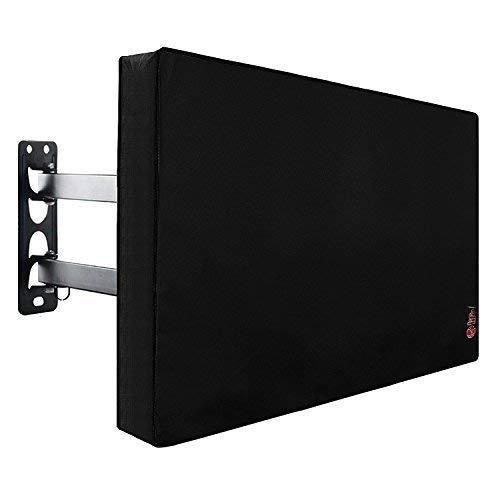 Outdoor TV Cover 40 to 43 inches with Scratch Resistant Interior, Bottom Seal, Weatherproof Protector for LCD, LED, Plasma Television Sets, Built in Remote Controller Storage Pocket