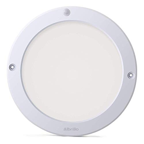 LED Ceiling Light Motion Sensor 1200lm - Albrillo Motion Lights Indoor Outdoor 100W Equivalent for Stairs Closet Room Basement Hallway, Warm White 2700K