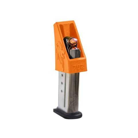 RAEIND Magazine Speedloader for M&P Shield, Springfield XD-S, Ruger LCP, Sig 938, All Colt 1911 Single Stack, 9mm, 40, 45 ACP Pistols (RAE-702) (Orange)