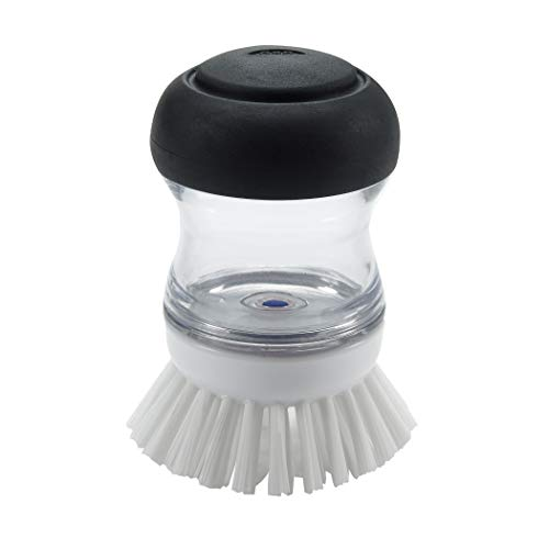 OXO 36481 Good Grips Soap Dispensing Palm Brush,Black/Clear/White,1EA