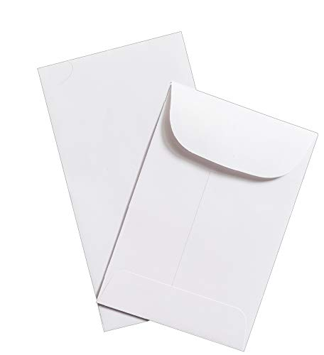 Guardian #1 Coin Envelopes, 2-1/4 x 3-1/2, White, 50/Pack