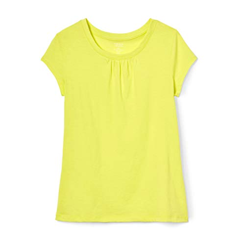 French Toast Girls' Little Short Sleeve Crewneck T-Shirt Tee, Lemon Fool, 6X