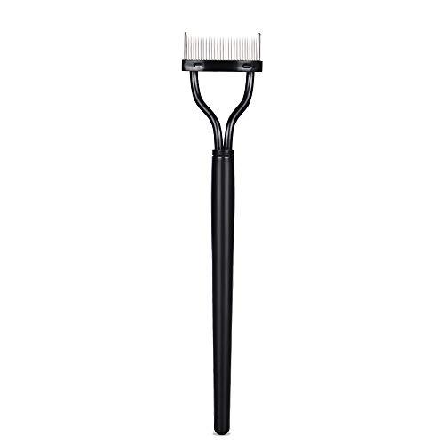 Eyelash Comb, Eyelashes Separator Curler Makeup Mascara Applicator with Comb Cover Long Handle
