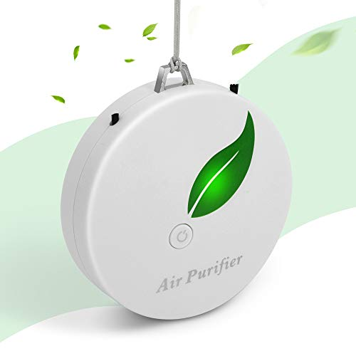 Aibrisk Personal Air Purifier for Home Mini Portable Wearable Air Purifier Necklace for Car Bedroom Kitchen