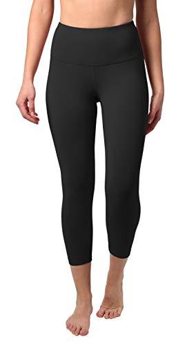 90 Degree By Reflex High Waist Tummy Control Shapewear Power Flex Capri (Black, Small)