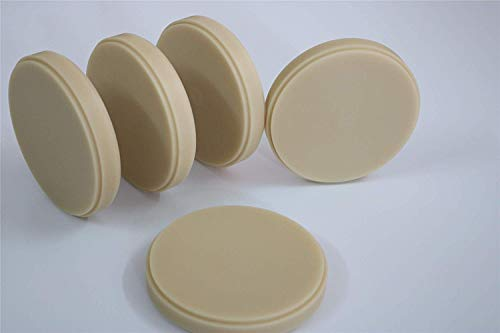 Dental PMMA,CAD CAM System Milling Disc Lab Materials for Denture Restoration Implant,5 Pieces (A2, 98x20mm)