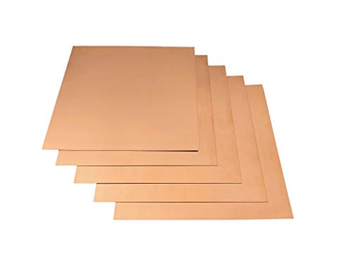 12'x12' Copper Sheet Metal - Lead Free - (2) 16 Ounce workable Copper Sheets for Jewelry, Crafts, Repairs, Enameling, Electrical