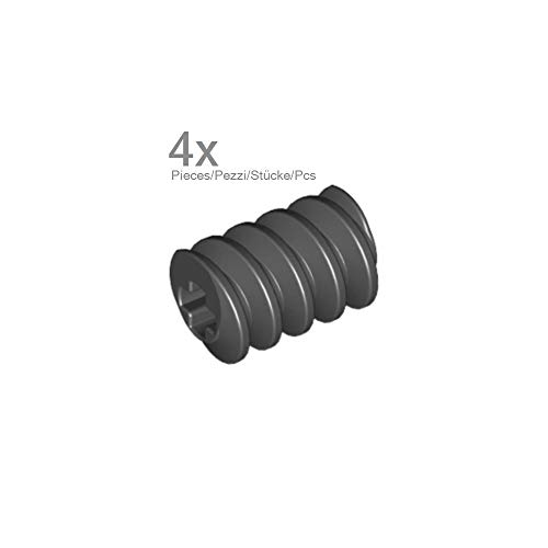 Lego Parts: Technic, Gear Worm Screw (PACK of 4 - Black)