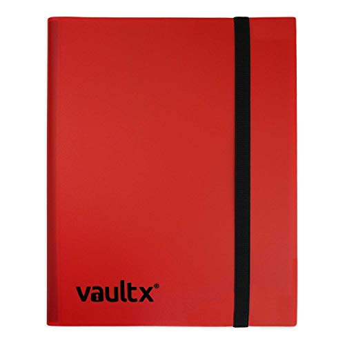 Vault X Binder - 9 Pocket Trading Card Album Folder - 360 Side Loading Pocket Binder for TCG (Red)