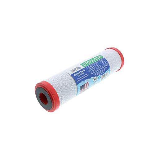 Neo-Pure CTOCL-2510 9-7/8' x 2-1/2' Coconut Shell Carbon Block Filter 0.5 Micron - Single