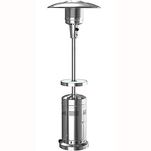 Member's Mark Patio Heater with LED Table + Wheels for Moving