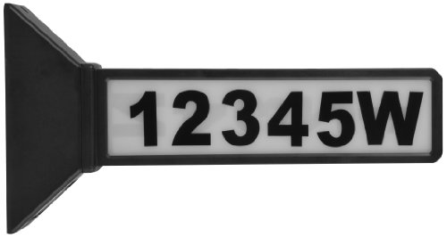 Moonrays 91919 2-Sided Solar Address Sign, Black