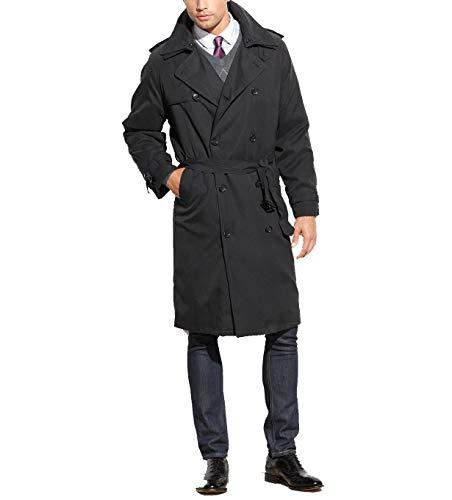 London Fog Men's Iconic Trench Coat, Charcoal, 40 Long