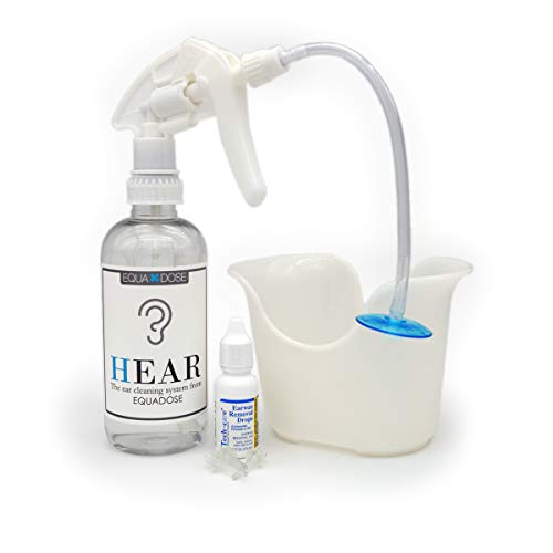 Hear Earwax Removal Kit from Equadose. Assembled in USA. Top Quality Ear Wax Remover for Ear Cleaning and Irrigation.