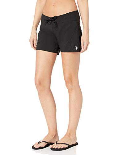 Volcom Women's Simply Solid 5 Inch Boardshort, Black, 5