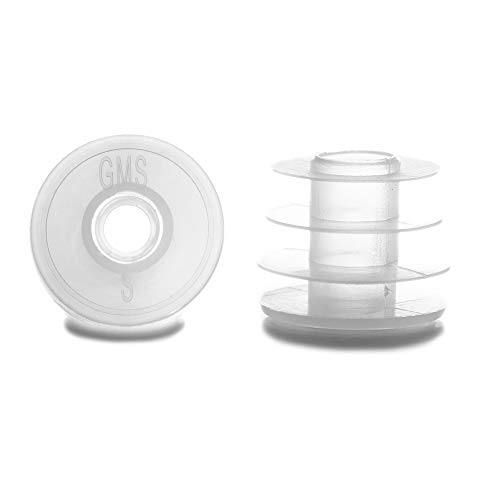 GMS Group Medical Supply, LLC New Press in Bottle Adapter Plug for Oral Medication Syringes and Liquid Medication - Reusable BPA Free Plastic - Large, 28mm for 12 and 16 oz Bottles (25 Count)