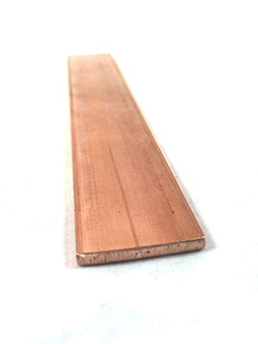 Copper Flat Bar Stock 1/8' x 1' x 6'- Knife making, hobby, craft, C110-1 Bar